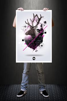 Poster Digital Art Photoshop by Hélio Pedrosa, via Behance