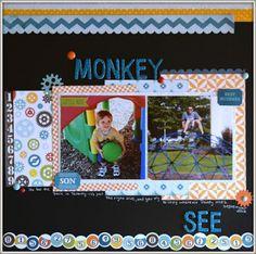 Lynn's Everyday Ideas: Monkey See Layout #lynnseverydayideas #echopark