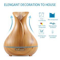 Nagyon szép, elegáns elektromos aroma párologtató. Színváltós világítás, fa kivitelezés.