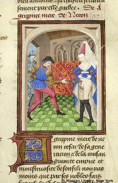 Medieval Manuscript Images, Pierpont Morgan Library, Livre des cleres et nobles femmes. MS M.381 fol. 54r
