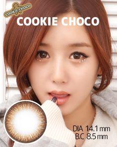韓国カラコン <b>クッキーチョコ[Cookie Choco] </b><br>度なし・度あり値段均一!嬉しい商品です~