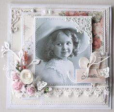 Hejsan!  Jag har gjort ett kort efter en vacker skiss inne hos Stamp with fun.    Detaljbilder    Bild från nätet. Papper Pion Design, fjäri...