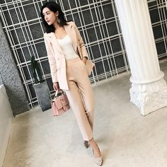 Best Price Women Pant Suits Notched Collar Blazer Jacket + Ankle-length Pants Office Ladies Business Casual 2 Piece Sets 2019 Autumn New Blazers For Women, Pants For Women, Clothes For Women, Women Blazer, Suit Prices, Pantsuits For Women, Vintage Pants, Ankle Length Pants, Office Ladies
