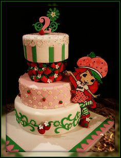Strawberry Shortcake theme cake