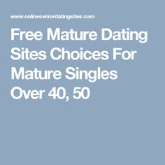 free senior dating site about me example Ageless love: seniors and dating posted on 31 jan 2017 by : jeff anderson tweet pin it  sign up for free to dating site datemymbacom it is the online dating platform where user can do free registration and then user will be able to search professional and date with them.