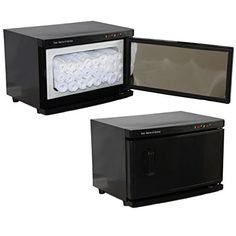 Black High Capacity Hot Towel Cabinet Uv Sterilizer 24 Ultra Soft Microfiber Towels Included Salon Spa Equipment