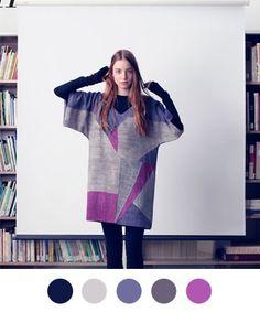 Purple & gray color palette