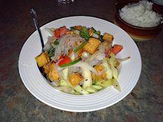 Yum Voon Sen, a vegetarian Thai dish from Jasmine Thai & Vegetarian Restaurant in Memphis, TN. The vermicelli and tofu dish is funky (tasting, that is).