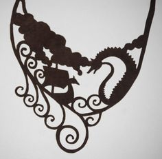 Viking Ship Leather Necklace by FloranceandLeah on Etsy, $35.00