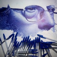 """Sumando horas y tinta... !!. ;) #ballpointpen  #bic  #miradazul  #chemamora  #retrato #ancianos"" Amazing Drawings, Realistic Drawings, Beautiful Drawings, Ballpoint Pen Drawing, Ink Pen Drawings, Vaporwave Art, Pen Illustration, Portraits, Art Sketches"