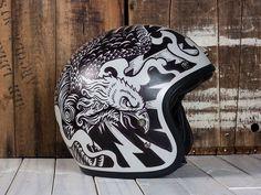 Electric Predators - Motorcycle Helmet by Derrick Castle Follow us on Instagram @graphicdesignblg