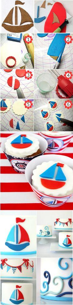 How to make nautical cupcakes