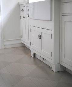 Wood floor painted in grey tone-on-tone check via http://toneontoneantiques.blogspot.com/