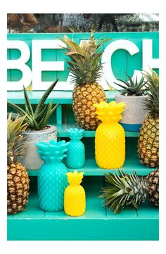 Bring a touch of the tropics home with this colorful, pineapple-scented candle.