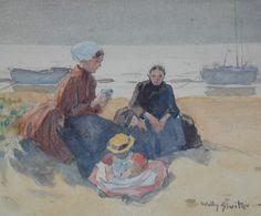 Jan Willem 'Willy' Sluiter (Amersfoort 1873-1949 Den Haag) Vissersvrouwen met kindje in de duinen - Kunsthandel Simonis en Buunk, Ede (Nederland).