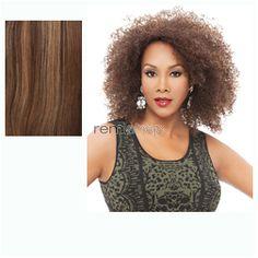 Vivica Fox Weave Cap Collection Casper  - Color P4/27/30 - Synthetic (Curling Iron Safe) Half Wig
