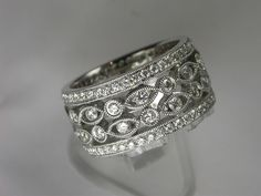 White Gold Filigree Diamond Ring Click here to shop beautiful diamond rings and jewelries: http://trkur1.com/203492/19175