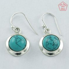 925 Sterling Silver Turquoise Stone Mother Love Earrings E4075 #SilvexImagesIndiaPvtLtd #DropDangle