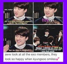 Because when you smile, sun shines. <3 #Kyungsoo