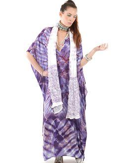 Gypset Maxi Kaftan Lungi batik-lila: INDIAN SUMMER, Germany