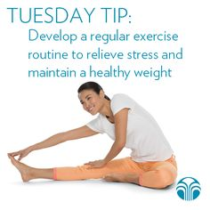 Develop a regular exercise routine to relieve stress and maintain a healthy weight. #NuSkin #NuSkinTip