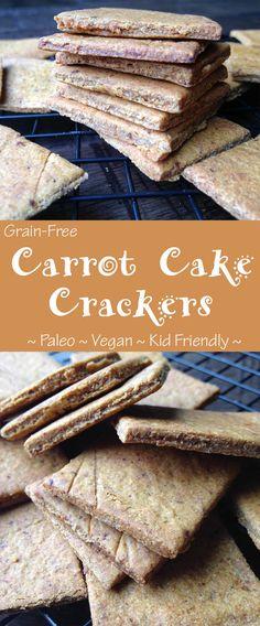 Grain free Carrot Cake Crackers