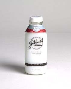 Jilbert's Milk Packaging by Molly Weber, via Behance Milk Packaging, Beverage Packaging, Packaging Design, Barware, Water Bottle, Cocktails, Packing, Design Inspiration, Mugs