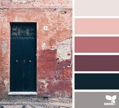 A Door Color (design seeds) Design Seeds, Colour Pallette, Colour Schemes, Color Combos, Color Palette Challenge, Color Balance, World Of Color, Color Stories, Colour Images