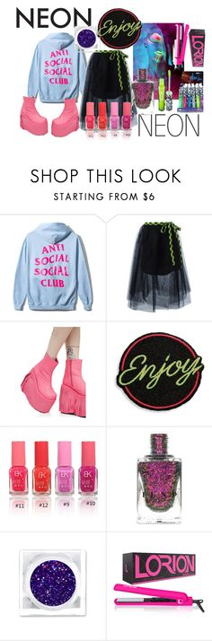 """Neon"" by bonbonchika ❤ liked on Polyvore featuring beauty, Marc Jacobs, Demonia and colorful"