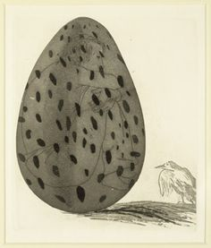 David Hockney 'The Boy Hidden in an egg' from Illustrations for Six Fairy Tales from the Brothers Grimm 1969