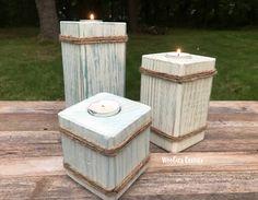 Tea light candle holder, Wooden candle holder, Tea light holder, Decorative candle holder, Candle pillars, Candle decor, Wood candle holder by WoobiesCorner on Etsy