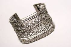 wide cuff bracelet in handmade wire wrapped jewelry by BeyhanAkman, $44.00