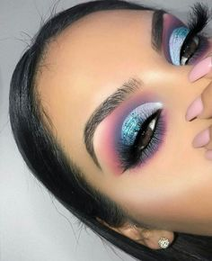 Makeup Eye Looks, Blue Eye Makeup, Eye Makeup Tips, Cute Makeup, Gorgeous Makeup, Pretty Makeup, Simple Makeup, Eyeshadow Makeup, Beauty Makeup