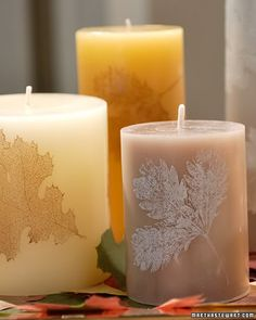 25 Ways to Update, Decorate & Repurpose Plain Pillar Candles - Saturday Inspiration & Ideas - bystephanielynn