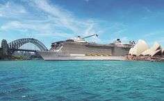 Royal Caribbean announced today that Australia will welcome its brand new cruise ship for the first time when Ovation of the Seas arrives in Sydney. Biggest Cruise Ship, Best Cruise Ships, Royal Caribbean International, Travel Ireland Tips, Caribbean Cruise Line, Anthem Of The Seas, Cruise Destinations, Travel Humor, Cruise Travel