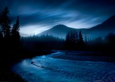 McDonald Creek, Glacier Park MT, photo  by Marc Adamus for photo.net (please do not repin without photographer's credits) Beautiful Photos Of Nature, Nature Pictures, Beautiful World, Beautiful Places, Random Pictures, Amazing Places, Wonderful Places, Simply Beautiful, Night Photography