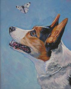 Cardigan Welsh Corgi dog art canvas print of LA by TheDogLover, $19.99