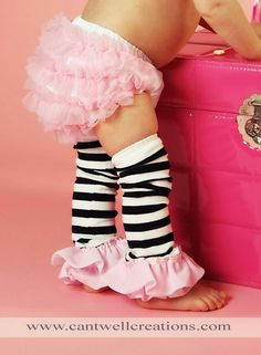 Baby girl outfit, so cute, baby leg Warmers