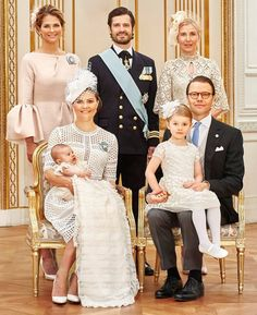 HRH Princess Madeline, HRH Prince Carl, ?  Front row: HRH Crown Princess…