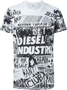 Diesel Collage Print T-shirt - Parisi - Farfetch.com