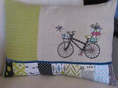 3patch cushion #07 by rosaechocolat, via Flickr