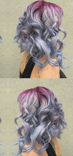 Pastel ombre gradient dyed hair color inspiration idea @xostylistxo