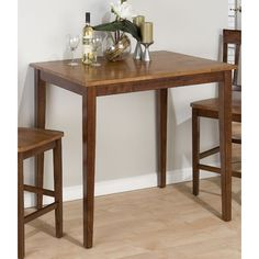 Kura Espresso and Canyon Gold Fixed Top Counter Height Table Only