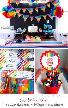Items similar to Rainbow Party Photo Invitations - DIY Printable Rainbow Birthday Invitations on Etsy Rainbow Unicorn Party, Rainbow Birthday Party, Rainbow Theme, Art Birthday, 2nd Birthday Parties, Birthday Ideas, Happy Birthday, My Little Pony Party, Rainbow Parties