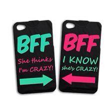 Fun Cute Funny Best Friend Girl Pair Case BFF iPhone 4 4s 5 5s 5c 6 Plus + iPod