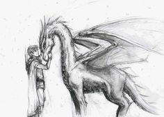 Elderling and young dragon
