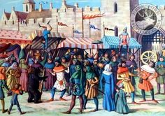Medieval Fair, Medieval Market, Reading Fair, New Forest, People Art, Antique Prints, Middle Ages, Cattle, Beast