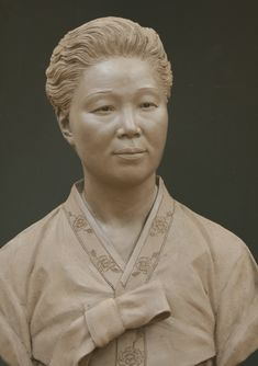 These life size bronze portrait sculptures are of retired Vice minister Choi of South Korea and his wife Mrs. Sculpture Head, 3d Figures, Clay Art, Sculpting, Bronze, Asian, Statue, Wood Carving, Drawings