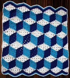 Ravelry: Project Gallery for Baby Blocks Crocheted Afghan pattern by Purple Kitty