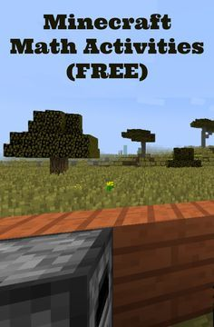 Minecraft Math Activities.  Read later to see if this can be modified for older students...